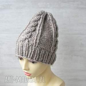 czapki gruba czapka alpaka