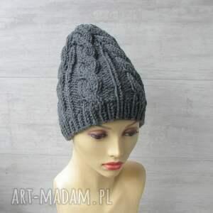 niesztampowe czapki czapka gruba wełniana