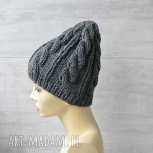 czapki wełna gruba wełniana czapka