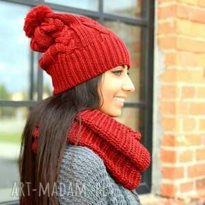 czapki gruba zimowa czapka z pomponem