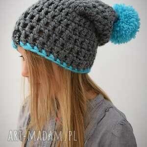turkusowe czapki czapka hellove kids 34