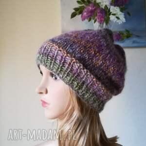 urokliwe czapki rękodzieło jedwab w pastelach
