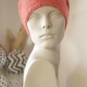 czapka jesienna czerwona