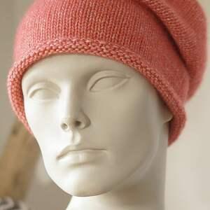 bawełniana czapki jesienna czerwona