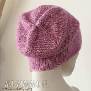 wełna czapki jesienna fuksja