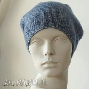 ręcznie wykonane czapki czapka jesienna granatowa