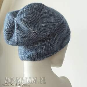 czapki unisex jesienna granatowa