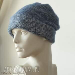 hand-made czapki unisex jesienna granatowa