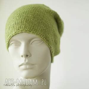 czapki bawełniana jesienna limonkowa