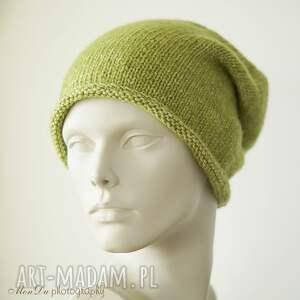 bawełniana czapki jesienna limonkowa