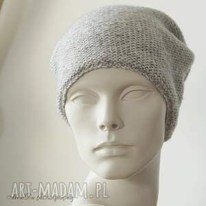 czapki bawełniana jesienna szara