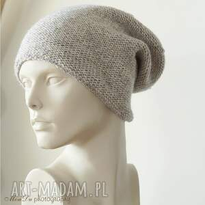 intrygujące czapki czapka jesienna szara