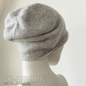 intrygujące czapki bawełniana jesienna szara