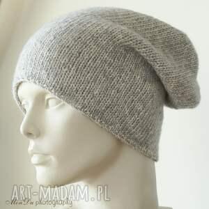 bawełniana czapki jesienna szara