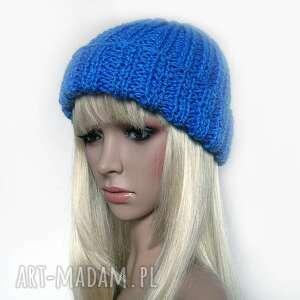 niebieskie czapki czapka kobaltowa czapeczka - uniwersalna