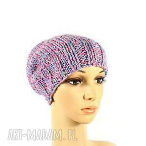 różowe czapki przędza kolorowa czapka z wełną zrobiona