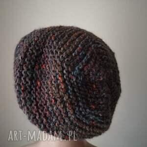 hand made czapki rękodzieło kolory ziemi czapka