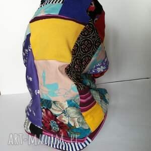 ręcznie zrobione czapki komin wiosenny patchworkowy dobry