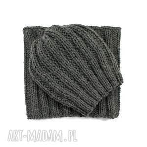 modne czapki czapka komplet i golfiak ręcznie
