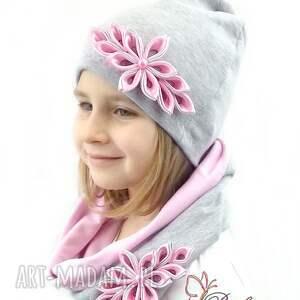 czapki czapka komplet dla dziewczynki - opaska
