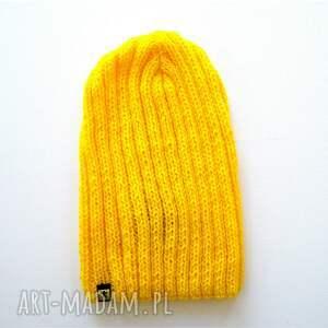 komplet czapki pomarańczowe kolorowych czapek unisex