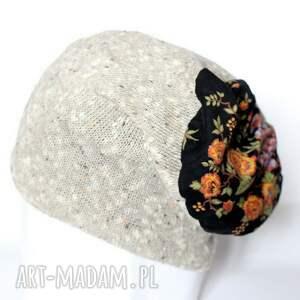 wyraziste czapki czapka komplet zimowy damski retro kolor