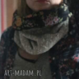 wyraziste czapki chusta komplet zimowy damski retro kolor