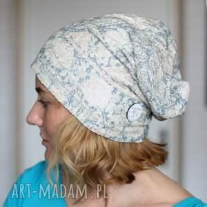 intrygujące czapka koronkowa pastelowa handmade