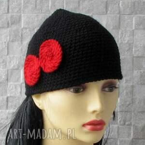 czarne czapki bonnet mała wiosenna czapka femme