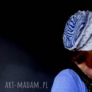 czapki: miła szara damska czapka dresowa punto