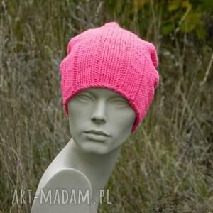 ostryróż czapki neon * różowy krasnal wool