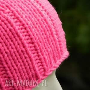 czapki ostryróż neon * różowy krasnal wool