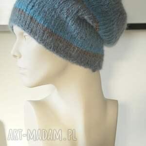 czapki czapka niebieska alpakowa