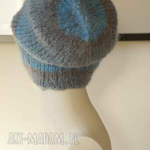 czapki lekka niebieska czapka alpakowa