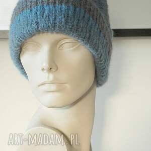 lekka czapki niebieska czapka alpakowa