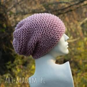 czapki ciepła pastel pink - na prawo * czapka