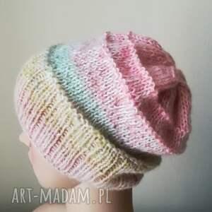 ręcznie robione czapki czapka pastelowa impresja