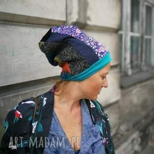 handmade czapki czapka patchworkowa kolorowa boho etno