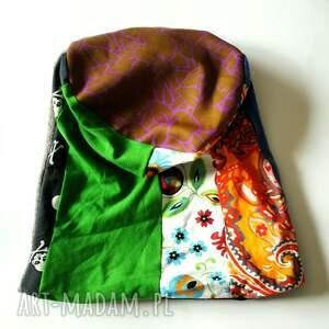 czapki etno patchworkowa kolorowa boho