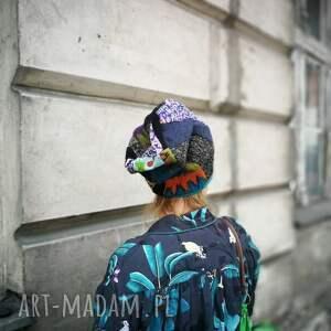 handmade czapki etno patchworkowa kolorowa boho