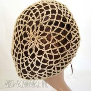 oryginalne czapki czapka plażowa siatka beżowa