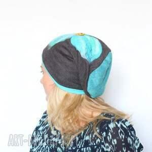 czapki czapka wełniana filcem ozdabiana