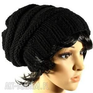 czapki czapka ręcznie dziergana zimowa