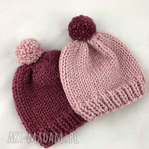 czapki ręcznie robiona czapka z pomponem