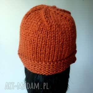 ciepła czapki ruda w stylu retro
