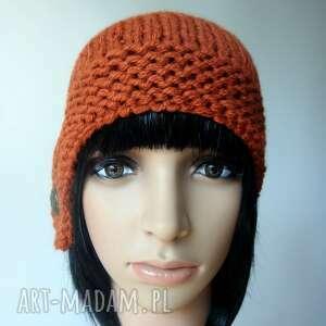wyjątkowe czapki retro ruda w stylu