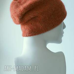 rudy czapki pomarańcz