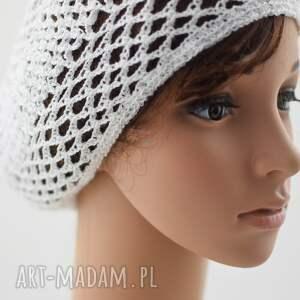 czapki plażowa siatka biała