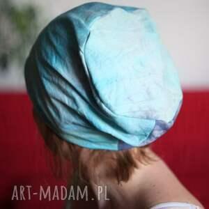 hand made czapki farbownana sowa z puszczykiem w puszczy urąga
