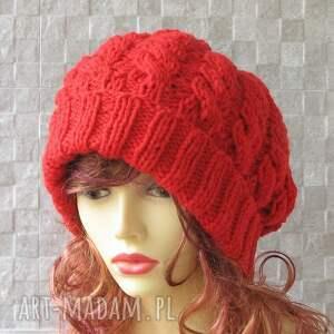 trendy czapki oversozed super gruba oversized beanie